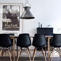 eiffel chaises noir, sale!! black eames chairs liquidation!