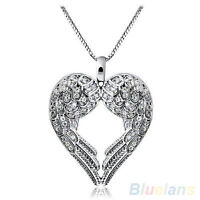 sterling silver angel heart wings chain and pendant