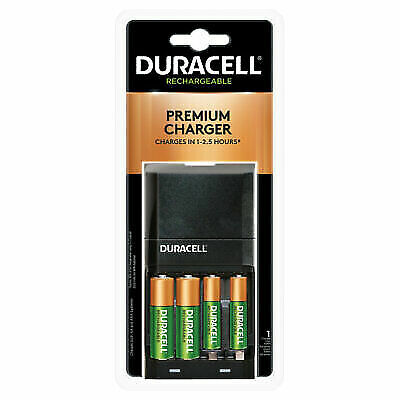 Duracell AA & AAA Premium Charger With 2 AA & 2 AAA Batteries Included NEW