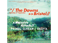 2 x Massive Attack tickets (£100) for Bristol Downs, Sat 3rd sept. Collect from Taunton or Bristol.