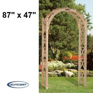 "NEW* SUNCAST HAWTORN ARBOUR - 120704688 - 87"" x 47"" NATURAL CEDAR STAINABLE PAINTABLE ARBOURS TRELLISES WEDDING ARCH"
