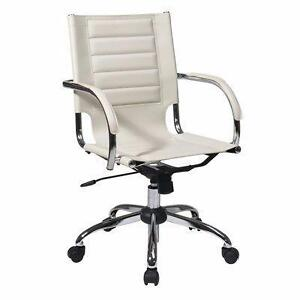 Office Star Trinidad PVC Office Chair - White  NEW