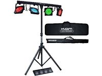 KAM PAR BAR pro DJ LED Lighting Bar with stand, controller and carry case