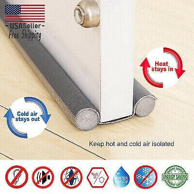 Door Under Draft Guard Stopper Sound Proof Reduce Noise Door Sealing Strip