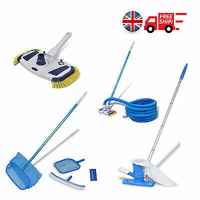 Pool Vacuum Cleaner Cleaning Spa Tub / Brush /Leaf Skimmers / Telescopic Pole - Telescoping Cleaning Pole