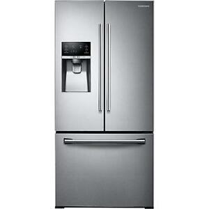 33-inch, 25.5 cu. ft. French 3-Door Refrigerator with Ice and Water