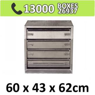 Aluminium Drawer Insert For Toolbox with 4 Drawers