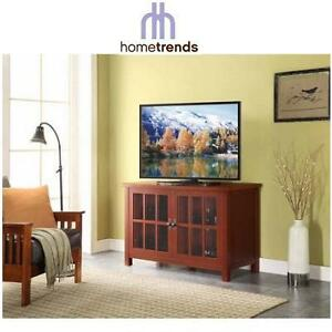 NEW HOMETRENDS MEDIA CABINET CRIMSON RED FINISH ACCENT CABINET 109612795