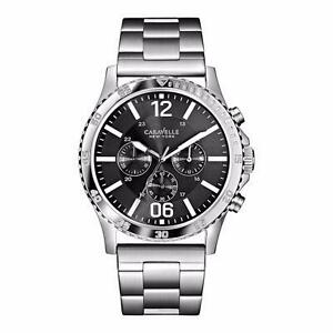 Bulova Caravelle New York Men's 43A115 Silver/Charcoal Stainless