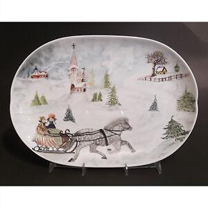 Vintage Bavarian Winter Scene Platter