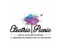 Electric Picnic Ticket - 3 day camping - General Admission (3 Available)