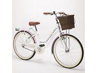 "Viking Summer Girls Traditional 24"" Wheel Dutch Bike, Heritage, Hybrid, Basket"