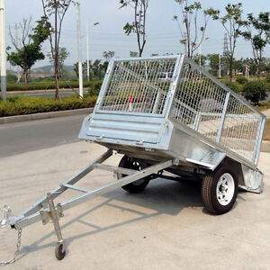 7x 5ft - TILT GALV BOX TRAILER with 300mm SIDES - 800mm Cage Molendinar Gold Coast City Preview