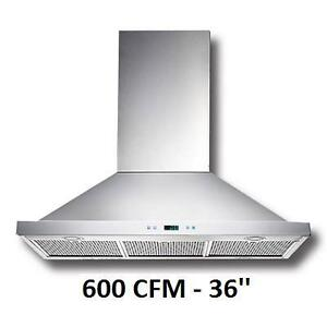 NEW PROLINE 36'' RANGE HOOD - 124707195 - 600 CFM WALL MOUNT