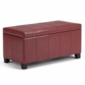 Hampshire Leather Storage Ottoman by Alcott Hill NEW