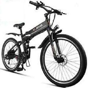 Weekly Promo! 26  ALUMINUM ALLOY FOLDING   MOUNTAIN EBIKE, 26X6, 500W, Black $1599(was $2099)