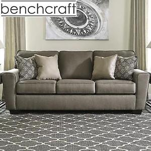 NEW BENCHCRAFT SLEEPER SOFA 199382764 QUEEN BED CASHMERE UPHOLSTERY COLOR