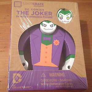 DC Comics 'THE JOKER' Painted Wooden Figure - sealed in box