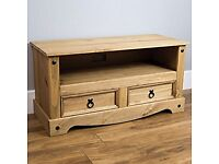 Mexican pine tv unit. Great condition