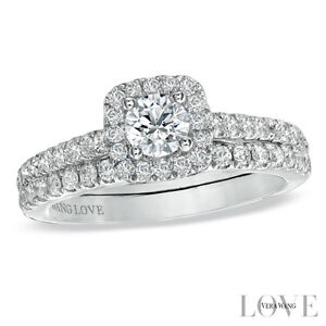 Vera Wang LOVE Collection 0.95 CT. T.W. Diamond Frame Bridal Set