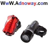 For Sell Waterproof 5 LED Lamp Bike Bicycle Front Head Light + R