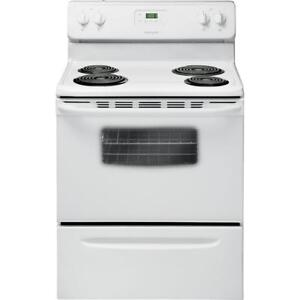 White-Westinghouse CWEF3007TW 30in 4.8 Cu. Ft. Freestanding Coil Top Electric Range  - White