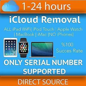 iCloud removal service by Serial Number for any model of iPad WiFi, iPod, iWatch, MacBook & Samsung USB Remote UNLOCK