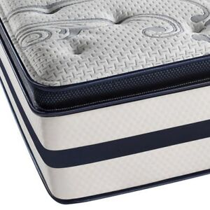 "MATTRESS LIQUIDATION - QUEEN 2"" PILLOW TOP MAT & BOX FOR $279"