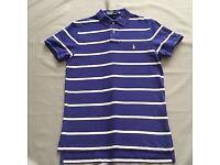 Ralph Lauren - Polo Shirt - Blue Stripes - Sizes S - XL Custom Fit