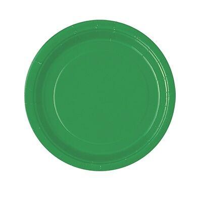 grüne Partyteller, Pappteller-Einwegteller in grün, 8er Pack, d=18cm