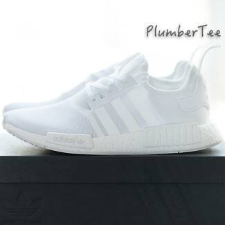 Brand New Adidas Original NMD R1 Monochrome Pack All White