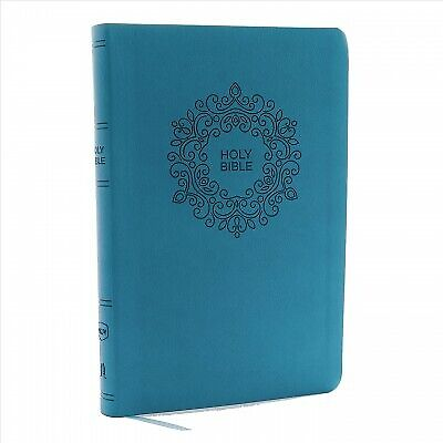 Holy Bible : New King James Version, Turquoise Leathersoft Thinline Bible Red...