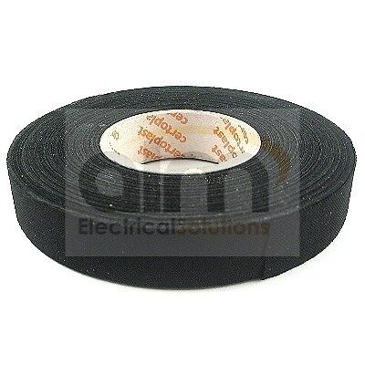 Wiring Loom Cloth Harness Tape 19mm x 25mtr Roll High Quality - Adhesive