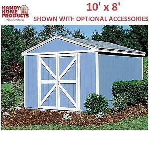 NEW HANDY HOME STORAGE BUILDING 18501-4 194836373 10' x 8' SOMERSET OUTDOOR SHED GARAGE