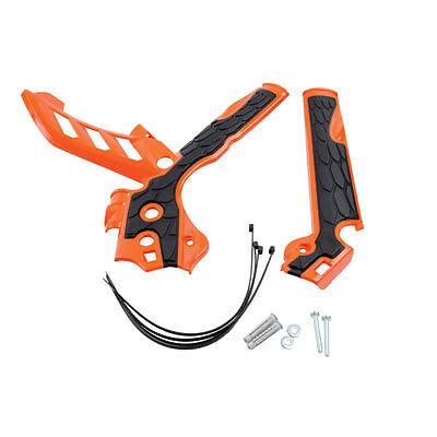 Acerbis X Grip Frame Guard Orange Protectors KTM EXCF 250 350 450 2014 2015