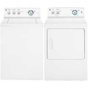 BRAND NEW WASHER 4.9CU DRYER 7CU GE TOP LOAD WHITE PAIR