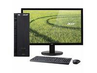 "Brand NEW Acer Aspire XC-215PC+FULLHD Monitor21.5""(AMD,4 GB RAM,1TB HDMI,USB 3.0,Wifi,Windows 8.1"