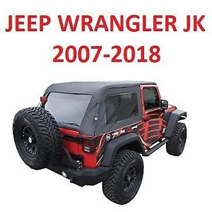 USED JEEP WRANGLER SOFT TOP KIT 109935 188322287 RAMPAGE BLACK FRAMELESS WITH TINTED WINDOWS KEEP WRANGLER JK 2 DOOR ...