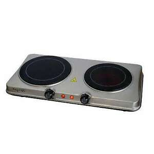 twin hotplate electric  stove in good condition 600 to1200watts