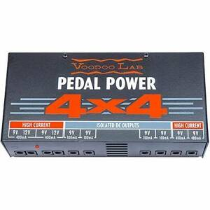 Voodoo Lab 4 x 4 power supply and Pedaltrain junior plus softcase Magill Campbelltown Area Preview