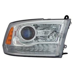 2013-2014 Dodge Ram Headlight Passenger Side Halogen Projector Style Chrome Exclude Sport/Rt High Quality