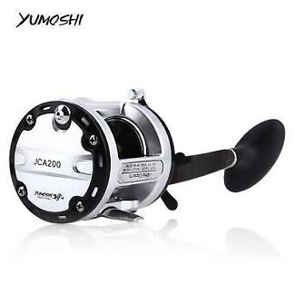 YUMOSHI 12 + 1 Ball Bearings Cast Drum Fishing Reel