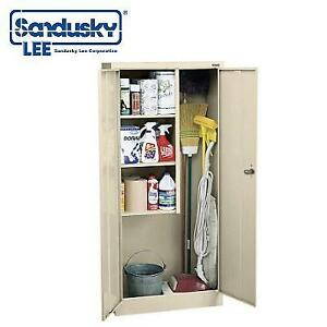 NEW* SANDUSKY STEEL SUPPLY CABINET VFC1301566-07 187051412 JANITORIAL 30'' x 66'' PUTTY