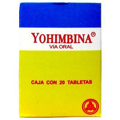 yohimbina yumbina PASTILLAS sexuales  20 PASTILLAS