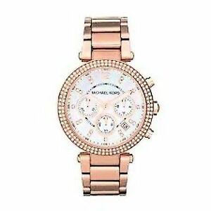 Michael Kors Mid Size Parker Chronograph Glitz MK5491 Wrist Watch for Women