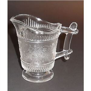 EAPG Footed Cream Pitcher