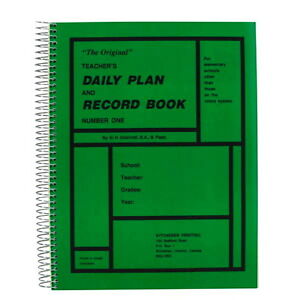 Teacher's Daily Plan and Record Book-new/sealed + bonus item