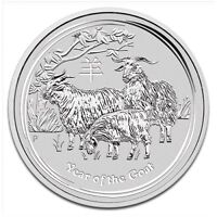 piece en argent Chevre/silver bullion Goat 2015 2 oz/ounce/once