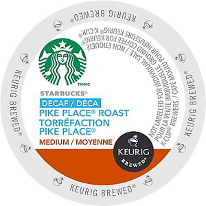 Starbucks Pike Place Decaf K Cup for Keurig - 48 Count