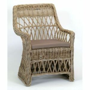 Brand New Hand Woven Rattan Dining Chair Arm Chair Kobu Sarnia Sarnia Area image 9
